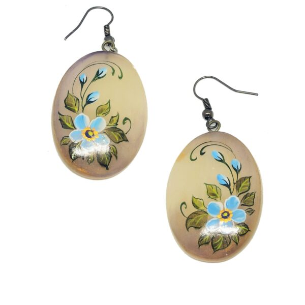 Bijou artisanal, boucles d'oreilles en sélénite earrings