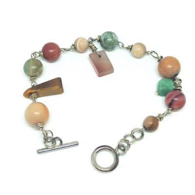 Bracelet pierres russes, création artisanale