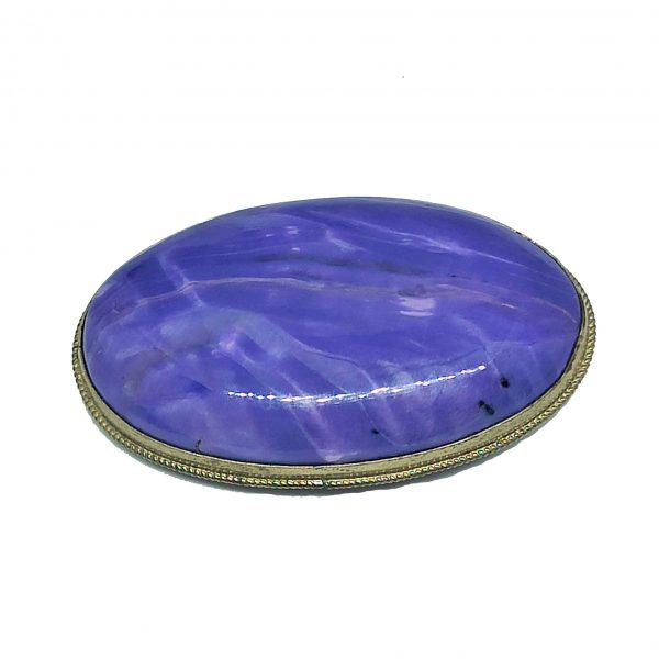 Broche – pierre charoïte, brooch