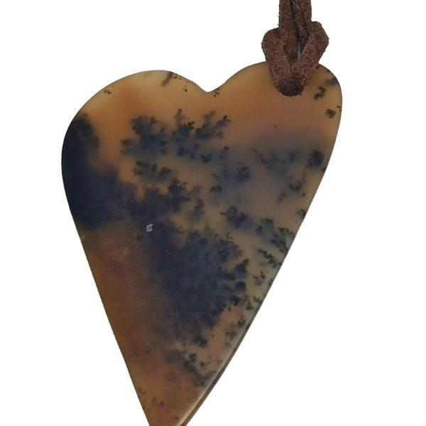 Pendentif en cœur – Agate Paysage